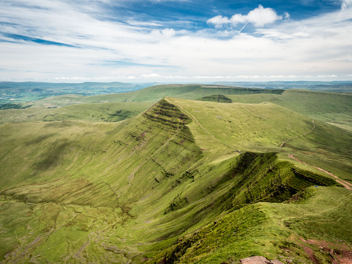 A Landscape Photograph Showing Cribyn, Taken From Pen Y Fan, In The Brecon Beacons National Park, Wales.
