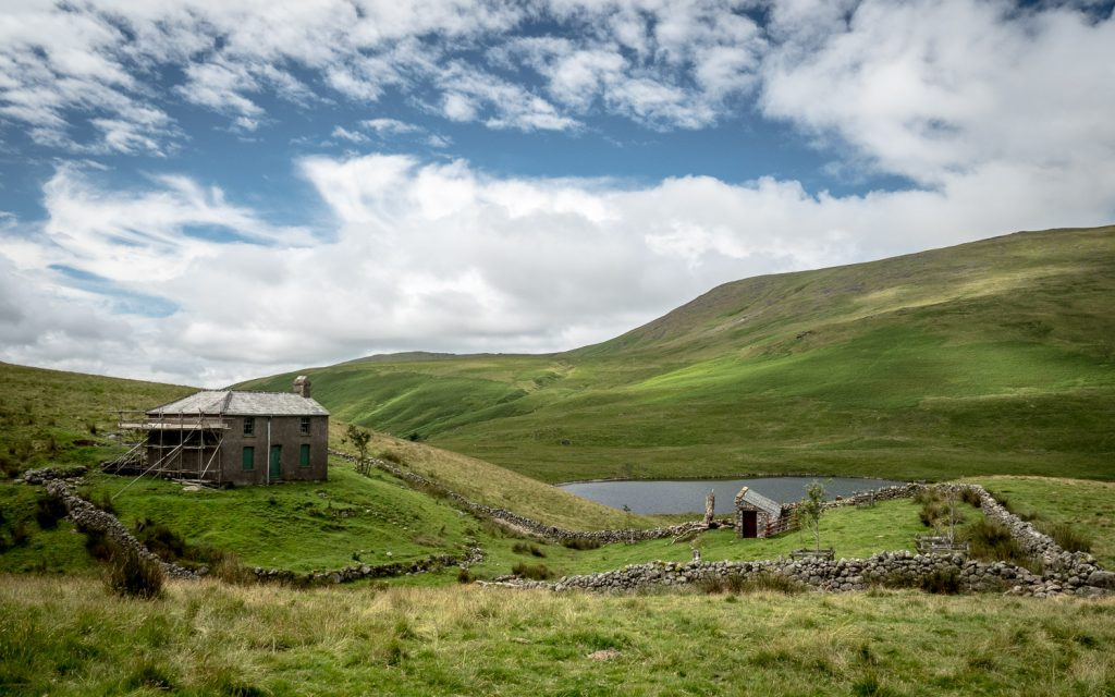 A landscape photograph of Burnmoor Lodge and Burnmoor Tarn from my Lake District photography tour.